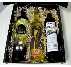 Tres aceites de Jaén. Estuche regalo
