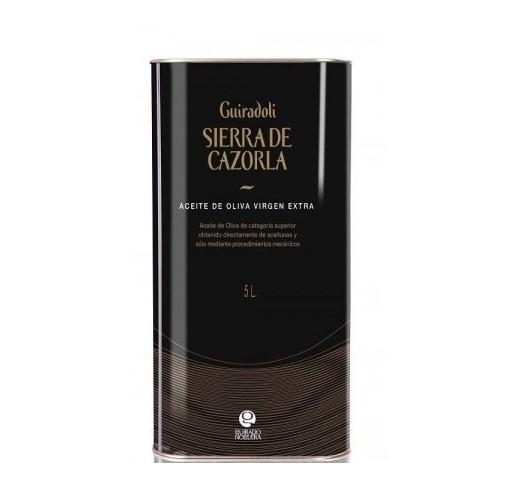 Sierra de Cazorla Guiradoli. Aceite de oliva Picual. Lata 5 Litros