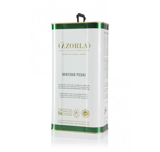Cazorla. Aceite de oliva Picual. Lata de 5 litros