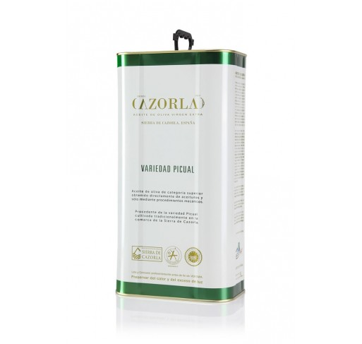 Cazorla. Picual Olive oil. 5 liters tin