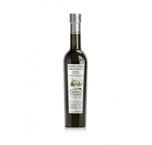 Castillo de Canena. Aceite de oliva Arbequina. Reserva Familiar. 12 botellas de 250 ml.