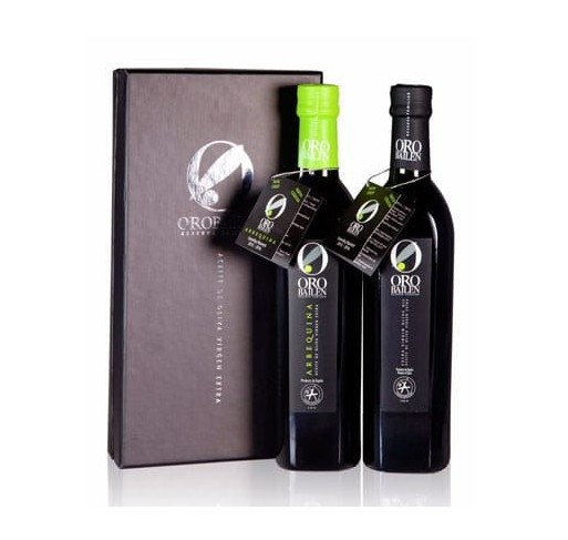Gift Box Bailen Family Reserve Picual y Arbequina varieties. 2 bottels 500 ML