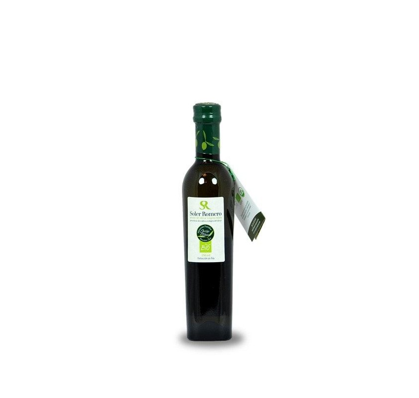 Organic Soler Romero Picual 24 bottles of 250 ml.