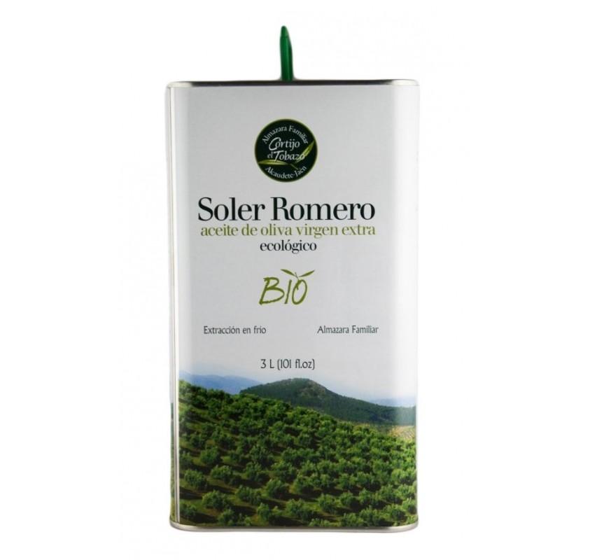 Soler Romero Bio. Organic olive oil Picual variety. 3 Liters Tin