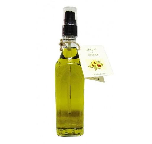 Mini glass bottle Marasca Alta spray 100 ml. Extra virgin olive oil