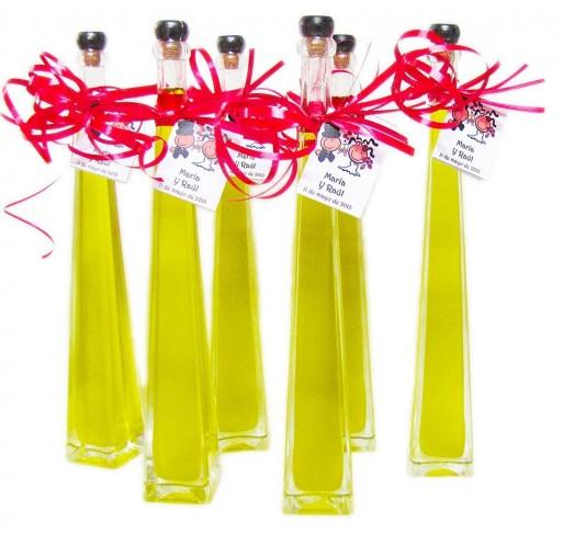 Mini glass bottle Edu 100 ml. Extra virgin olive oil