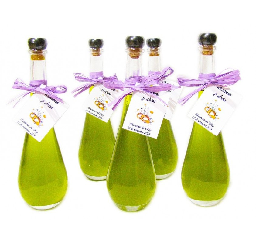 Mini glass bottle Raquel 100 ml. Extra virgin olive oil