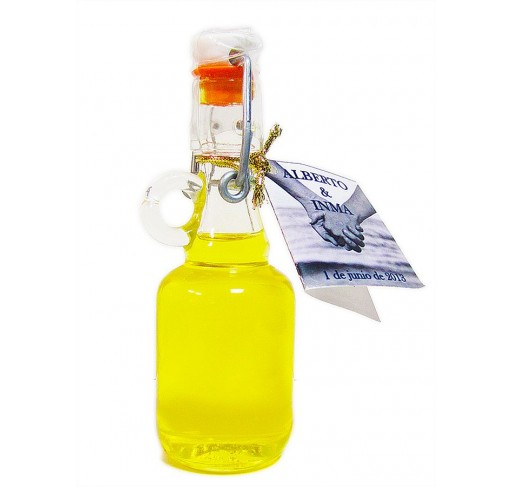 Mini glass bottle Galón 40 ml. Extra virgin olive oil.