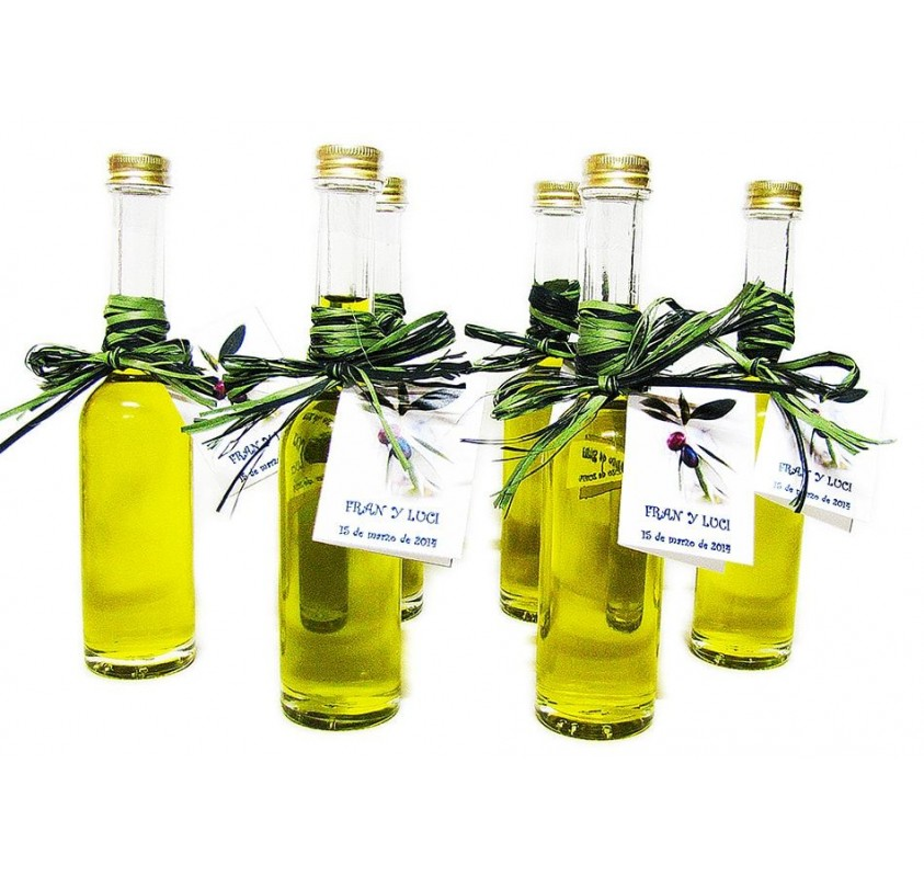 Mini glass bottle Sorgente 100 ml. Extra virgin olive oil