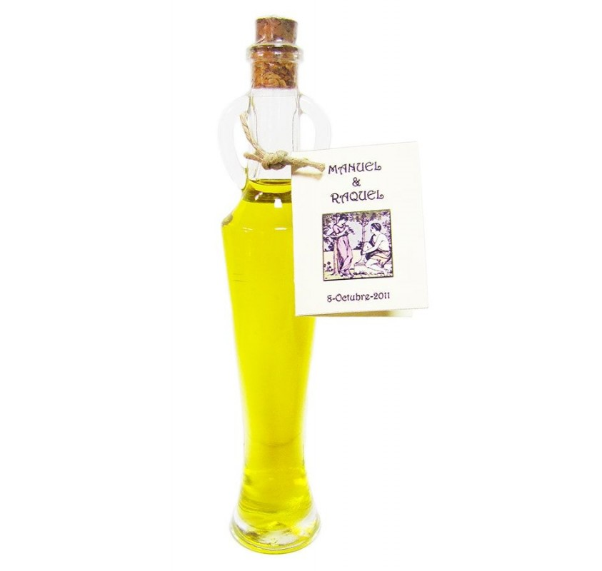 Mini glass bottle Silvia 40 ml. Extra virgin olive oil