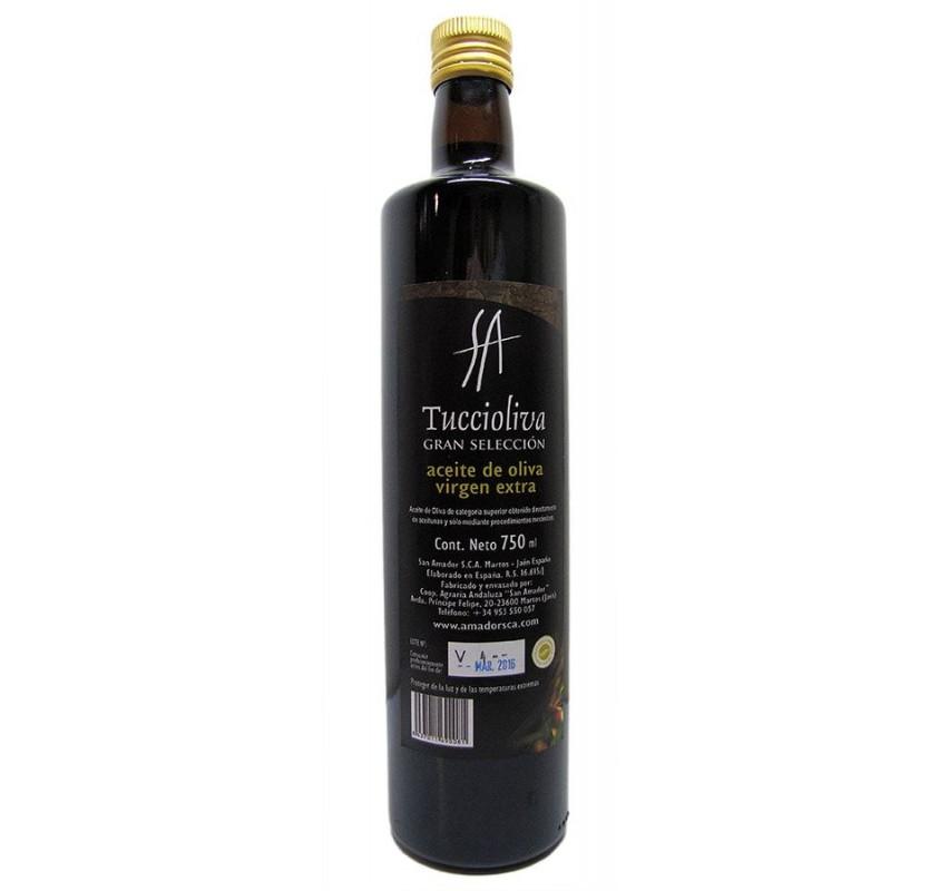Tuccioliva. Aceite de oliva Picual. Botella Dorica de 750 ml