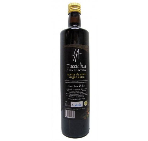 Tuccioliva. Picual Olive oil. Doric bottle of 750 ml