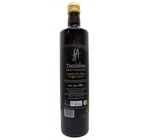 Tuccioliva. Aceite de oliva Picual. Botella Dorica de 500 ml