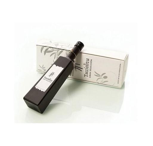 Tuccioliva. Aceite de oliva Picual. Estuche regalo. Botella Solitude 500 ml
