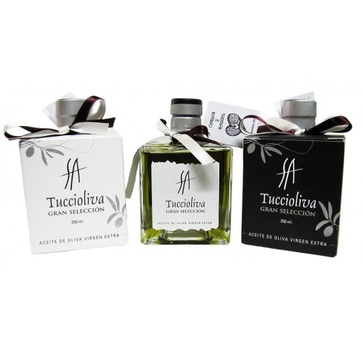 Mini glass bottle Mystic. Picual olive oil Tuccioliva. 250 ml.