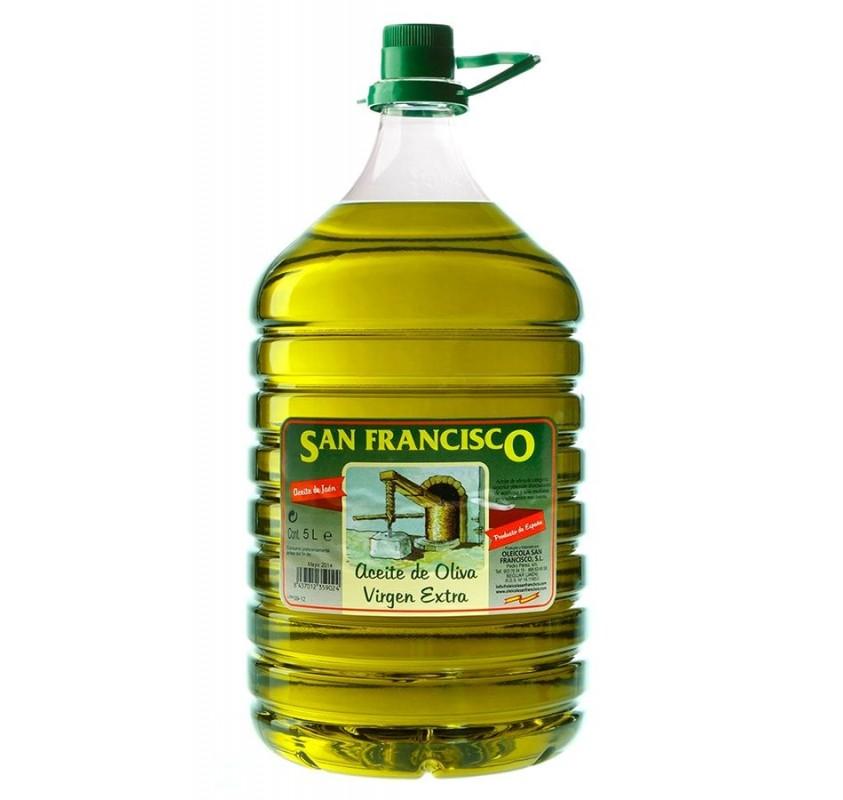 Oleícola San Francisco Picual. 3 Garrafas de 5 Litros