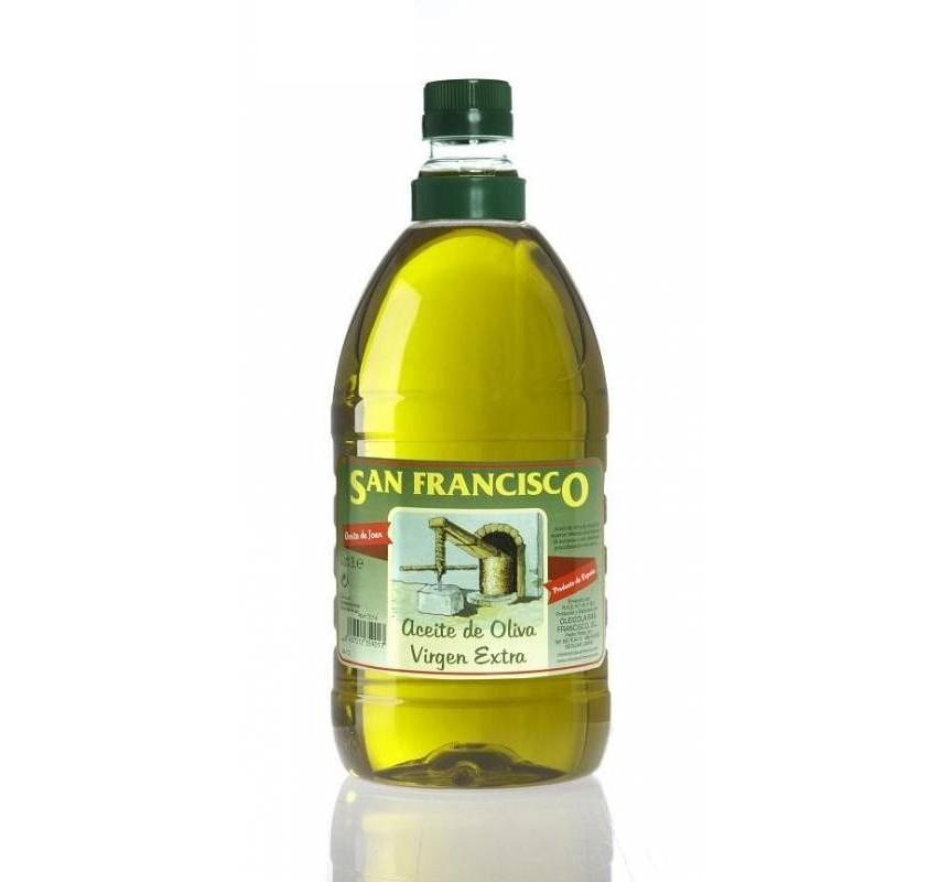 San Francisco. Aceite de oliva Picual. 8 envases de 2 litros