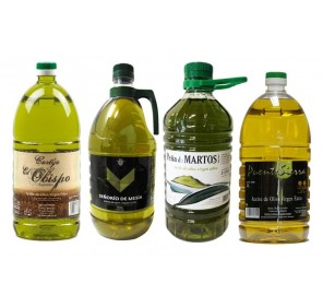 Selection 4 Oils of Jaen. 4 Bottles of 2 Liters