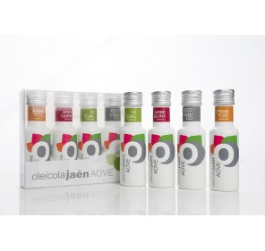 AOVE Oleicola Jaen. Box with 4 varieties. 100 ML.