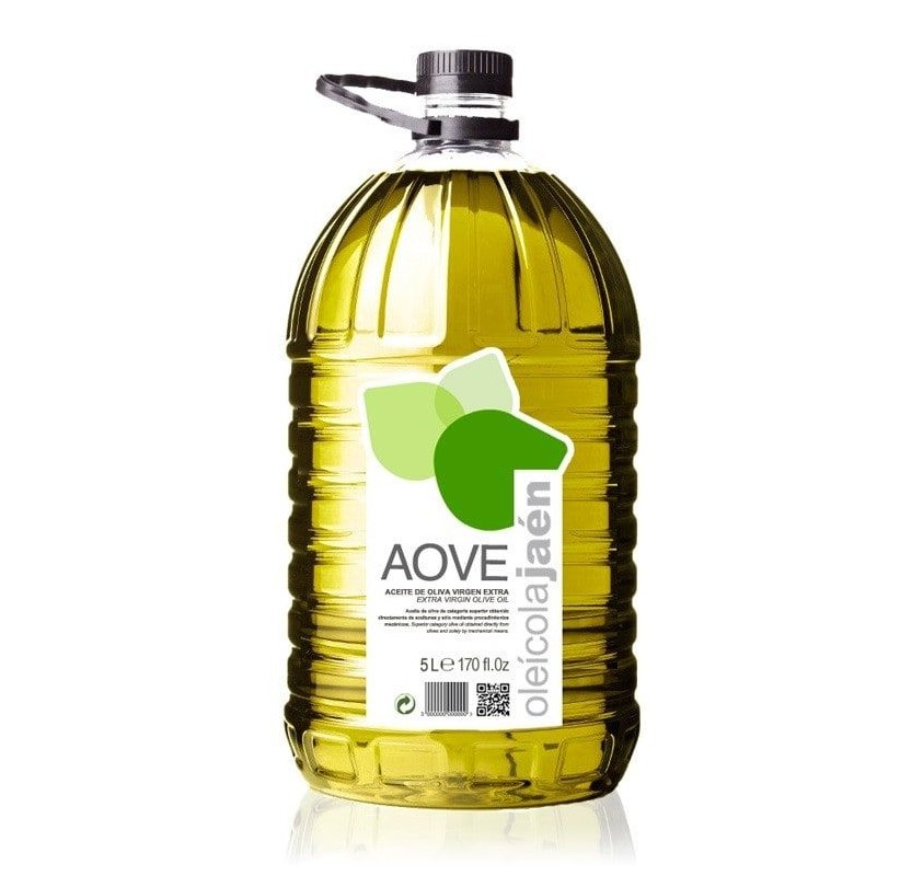 AOVE Oleicola Jaen. Picual Olive oil. Bottle of 5 Liters
