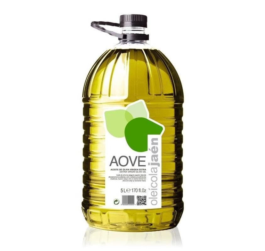 AOVE Oleicola Jaen. Aceite de oliva Picual. Garrafa de 5 Litros