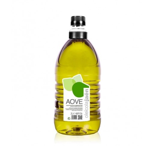 AOVE Oleicola Jaen. Aceite de oliva Picual. Garrafa de 2 Litros