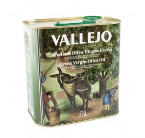 Vallejo. Aceite de oliva Picual. Lata de 2,5 L