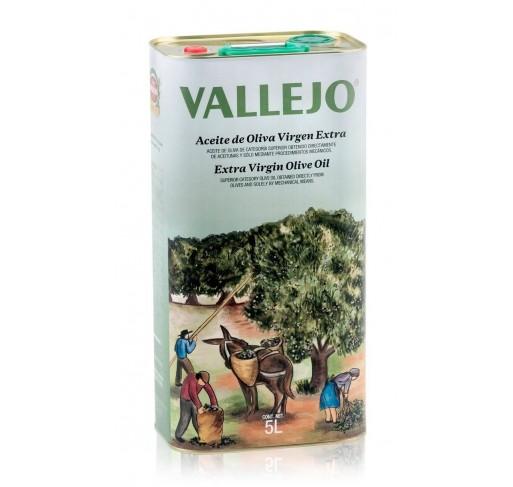 Vallejo. Aceite de oliva Picual. Lata de 5 Litros