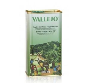 Vallejo. Aceite de oliva Picual. Lata de 500 ml