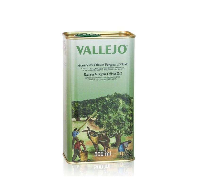 Vallejo. Picual Olive oil. 500 ml tin