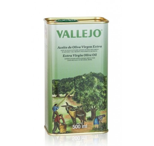 Vallejo. Picual Olive oil. 500 ml tin