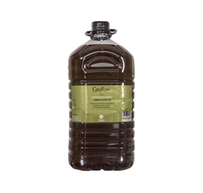 Coto Rios. Picual Olive oil. 3 Bottles of 5 Liters