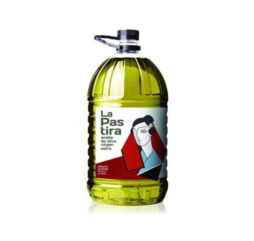 La Pastira. Virgin Olive oil from Picual variety. 3 Bottles of 5 Liters