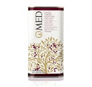 Omed. Aceite de oliva virgen extra Picual. 9 Latas de 1 Litro