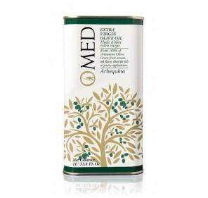 Omed. Aceite de oliva Arbequina. 9 Latas de 1 Litro.