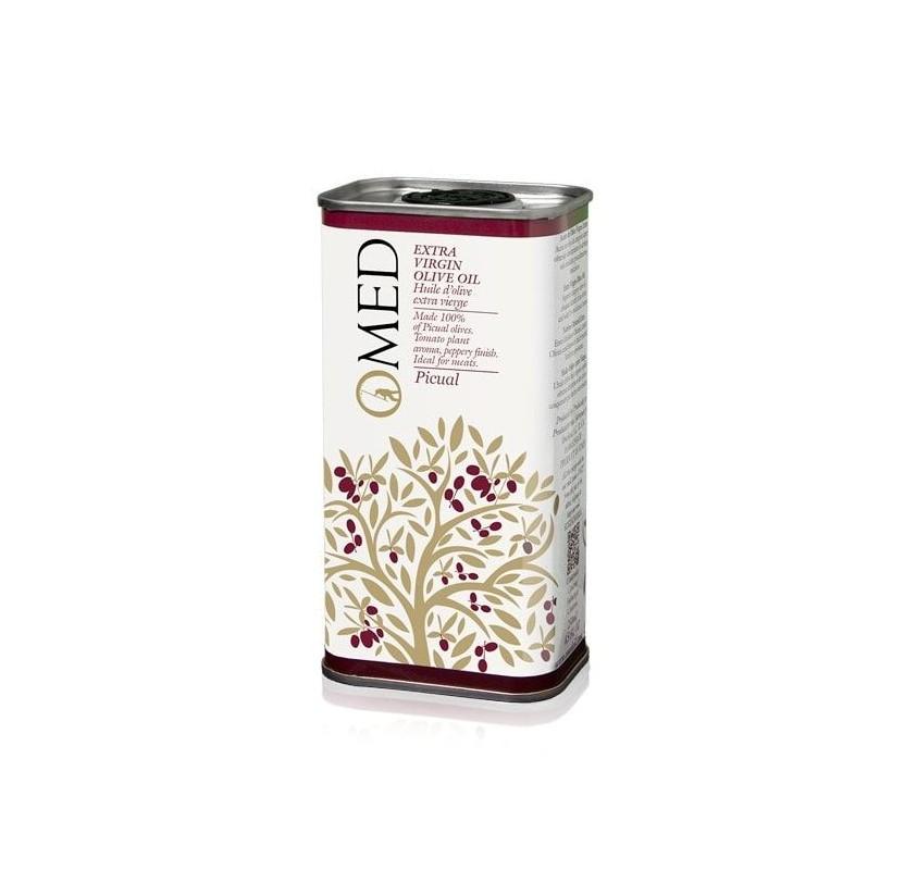 Omed. Aceite de oliva Picual. 24 Latas de 250 ml