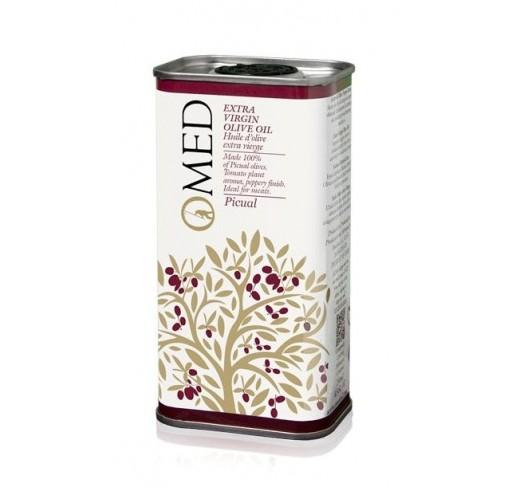 Omed. Aceite de oliva virgen extra Picual. 24 Latas de 250 ml