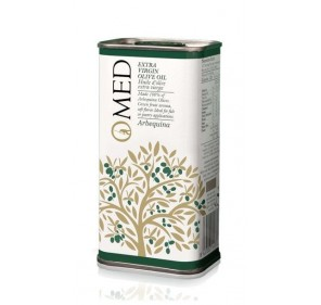 Omed. Arbequina Olive oil. 24 tins of 250 ml