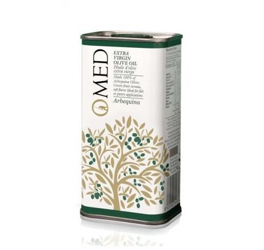 Omed. Aceite de oliva virgen extra Arbequina. 24 Latas de 250 ml