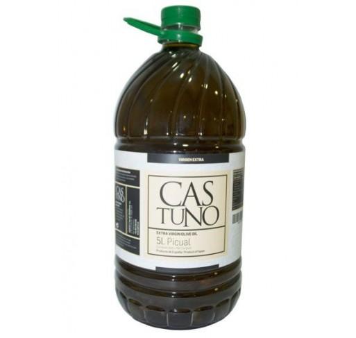 Castuno. Aceite de oliva Picual. 3 Garrafas de 5 Litros.
