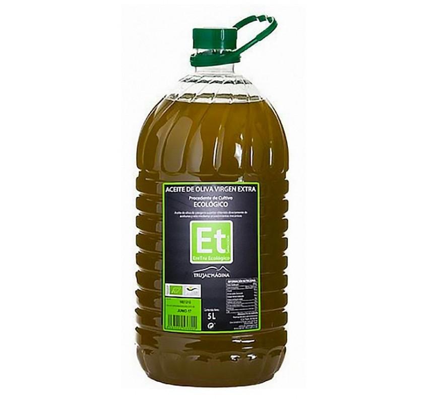 Eretru. Aceite de Oliva Ecológico. 3 Garrafas de 5 Litros