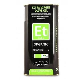 Eretru. Organic Olive oil. 12 tins of 1 Liter.