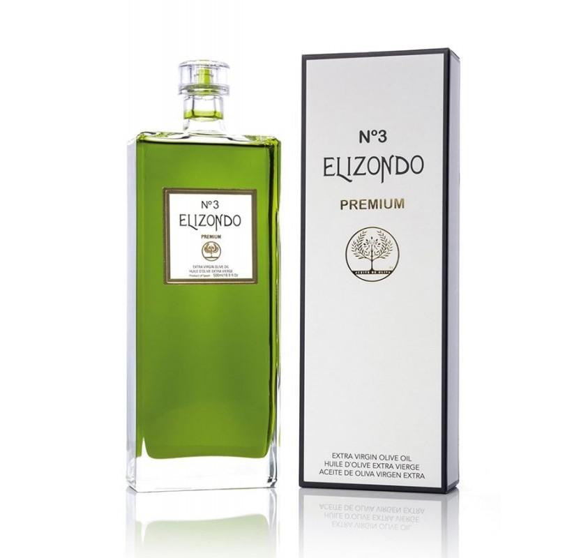 Elizondo N.3. Aceite de oliva Picual. 6 Botellas de 500 ml