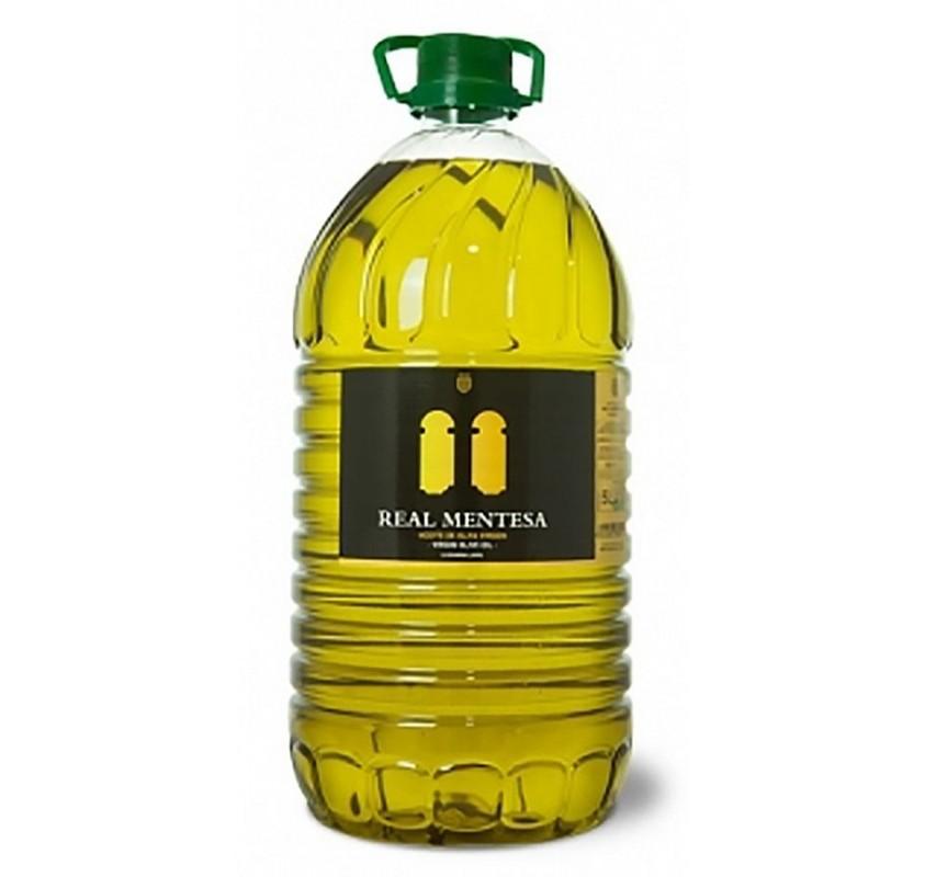 Real Mentesa. Aceite de oliva Picual. Garrafa de 5 Litros