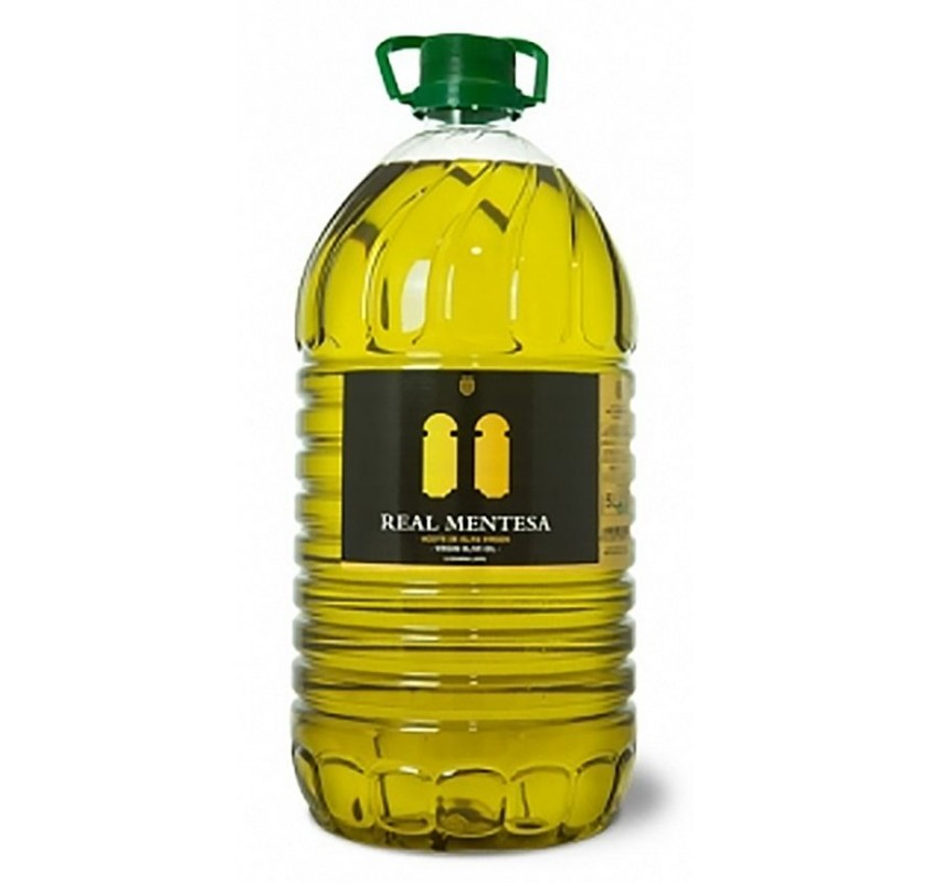 Real Mentesa. Picual Olive oil. Bottle of 5 Liters