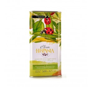 Extra Virgin Olive Oil. Oleum Hispania. Hojiblanca variety. Box of 6 x 500 ml.