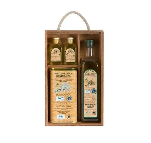 Gift box Organic Olive Oil Verde Salud, picual variety