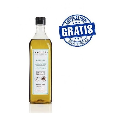 Cazorla. Aceite de oliva Picual. 15 litros botellas de un litro