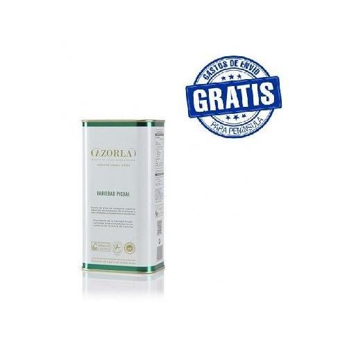 Cazorla. Aceite de oliva picual. 15 latas de 1 litro