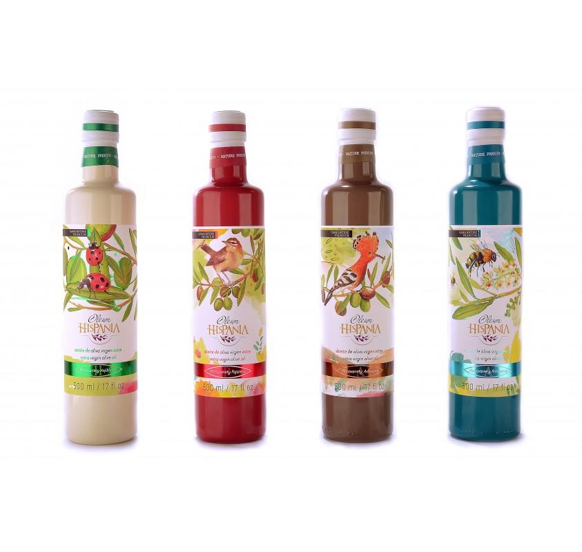 Oleum Hispania pack. 12 X 250 ml. glass bottle.